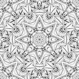 Vector Naadloos Zwart-wit Overladen Patroon Royalty-vrije Stock Afbeelding