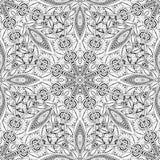 Vector Naadloos Zwart-wit Overladen Patroon Stock Foto's