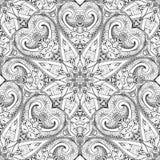 Vector Naadloos Zwart-wit Overladen Patroon Stock Afbeeldingen