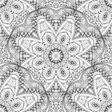 Vector Naadloos Zwart-wit Overladen Patroon Royalty-vrije Stock Afbeeldingen