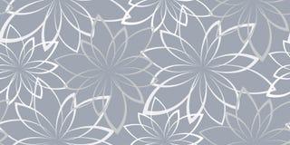 Vector naadloze achtergrond Bloemen op een lichtblauwe achtergrond Royalty-vrije Stock Afbeeldingen