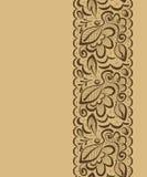 Vector naadloze achtergrond Kantbloemen en bladeren op lichte B Royalty-vrije Stock Afbeeldingen