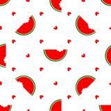 Vector naadloze achtergrond Nationale Watermeloendag Stock Afbeeldingen
