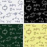 Vector Naadloze Achtergronden met Formules en Krommenpatroon Royalty-vrije Stock Foto