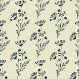 Vector naadloze bloemenachtergrond Stock Afbeelding