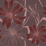 Vector naadloze bloemenachtergrond. Stock Foto