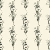 Vector naadloze bloemenachtergrond Stock Fotografie