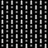 Vector naadloze de winterkerstmis en Nieuwjaarachtergrond Vector Illustratie