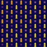 Vector naadloze de winterkerstmis en Nieuwjaarachtergrond Stock Illustratie