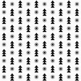 Vector naadloze de winterkerstmis en Nieuwjaarachtergrond Royalty-vrije Illustratie