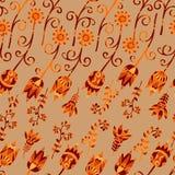Vector naadloze decoratieve bloemen Stock Afbeelding