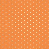 Vector naadloze die achtergrond met stipornament in de herfst oranje kleur wordt gemaakt royalty-vrije illustratie