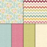 Vector naadloos patroon. de achtergrond van de linnentextuur Royalty-vrije Stock Fotografie