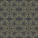 Vector naadloze elegante patronen op zwarte achtergrond Stock Foto's