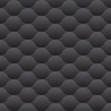 Vector Naadloze Gray Gradient Leaf Shape Circle-Leertextuur Royalty-vrije Stock Fotografie