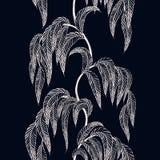 Vector naadloze grens met gestileerde boomtakken voor seizoen DE royalty-vrije illustratie