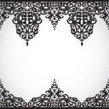 Vector naadloze grens in Victoriaanse stijl. Stock Afbeelding