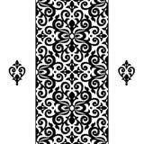 Vector naadloze grens in Victoriaanse stijl Stock Afbeeldingen