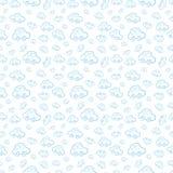 Vector naadloze het patroonachtergrond van de babyjongen Jongensachtig behang Stock Fotografie