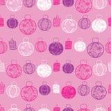 Vector naadloze het patroonachtergrond van roze, purper en Witboeklantaarns Perfectioneer voor stof, het scrapbooking, behangproj vector illustratie