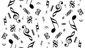 Vector naadloze muzieknota Royalty-vrije Stock Fotografie