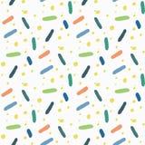 Vector Naadloze Patronen Leuke en kleurrijke achtergrond Stock Afbeelding
