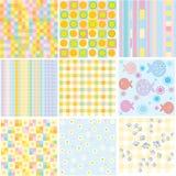 Vector naadloze patronen voor uw ontwerp. Royalty-vrije Stock Foto's