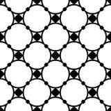 Vector naadloze patroon, cirkels en knopen Stock Fotografie