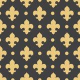 Vector naadloze patroon koninklijke lelie, koninklijke achtergrond Stock Foto