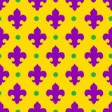 Vector naadloze patroon koninklijke lelie, koninklijke achtergrond Stock Afbeeldingen