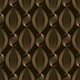Vector naadloze patroon Moderne modieuze textuur Het herhalen geomet Stock Afbeeldingen