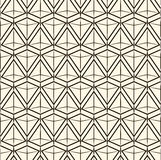 Vector naadloze patroon Moderne modieuze textuur Het herhalen van geometrische tegels Stock Afbeelding