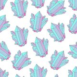 Vector naadloze patroon van het pastelkleur het minerale kristal stock illustratie