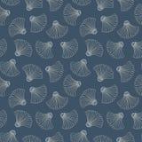 Vector Naadloze Patroon van indigo Hand-Drawn Japanse Abstracte Ventilators Traditionele Katazome Katagami Geo verzet zich Kleurs vector illustratie