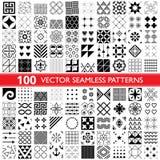 100 vector naadloze patrooninzameling, geometrische universele patronen, tegels en behang - groot pak stock illustratie