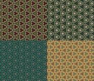 Vector Naadloze Patroonreeks Uitstekende geometrische achtergrond Stock Fotografie
