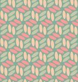 Vector Naadloze Rond gemaakte Ellipsen in Roze en Teal Pattern Stock Foto's
