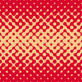 Vector Naadloze Rond gemaakte Halftone Gradiënt Onregelmatige Retro Grungy Rode Tan Pattern Royalty-vrije Stock Fotografie