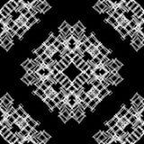 Vector naadloze sier zwart-witte patroon Eindeloze textuur vector illustratie