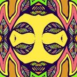 Vector naadloze textuur Eindeloze gele achtergrond Stock Afbeeldingen