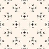Vector naadloze textuur, geometrisch zwart-wit patroon, vierkant Stock Afbeeldingen