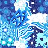 Vector naadloze textuur met abstracte bloem Etnisch naadloos patroon Stock Afbeeldingen