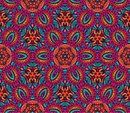 Vector naadloze textuur met abstracte bloemen Stock Illustratie