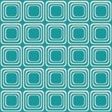 Vector naadloze textuur met rond gemaakte vierkanten die als oude TV kijken stock illustratie