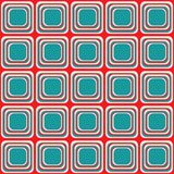 Vector naadloze textuur met rond gemaakte vierkanten die als oude TV kijken royalty-vrije illustratie