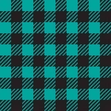 Vector naadloze textuur met vichy kooiornament Blauwe en zwarte kooien vector illustratie