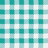 Vector naadloze textuur met vichy kooiornament Groene en witte kooien stock illustratie