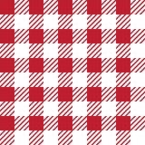 Vector naadloze textuur met vichy kooiornament Rode en witte kooien vector illustratie