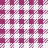 Vector naadloze textuur met vichy kooiornament Witte en roze kooien stock illustratie