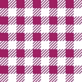 Vector naadloze textuur met vichy kooiornament Witte en roze kooien royalty-vrije illustratie
